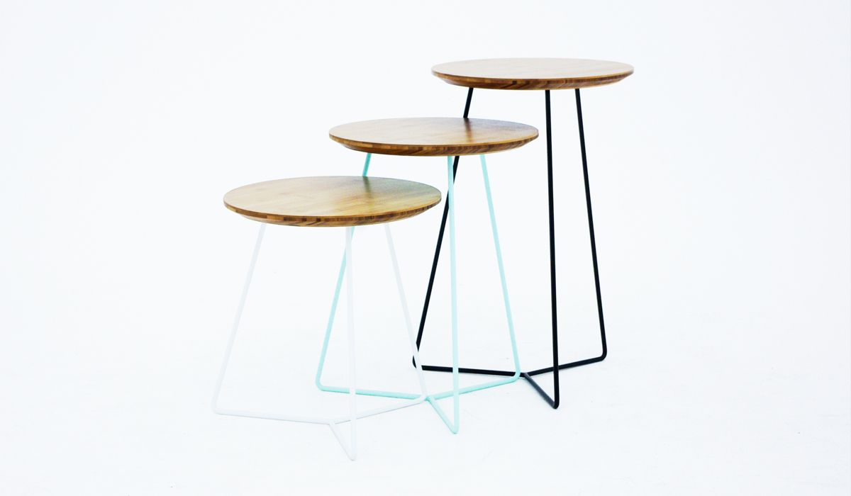Set of three side tables nested whitewood office pinterest set of three side tables nested geotapseo Images