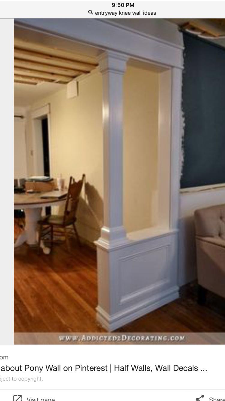 Columns wallroomdivider room divider ideas attic pinterest