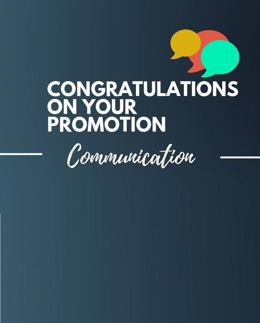 Whenever a person gets a promotion it is one such moment ...