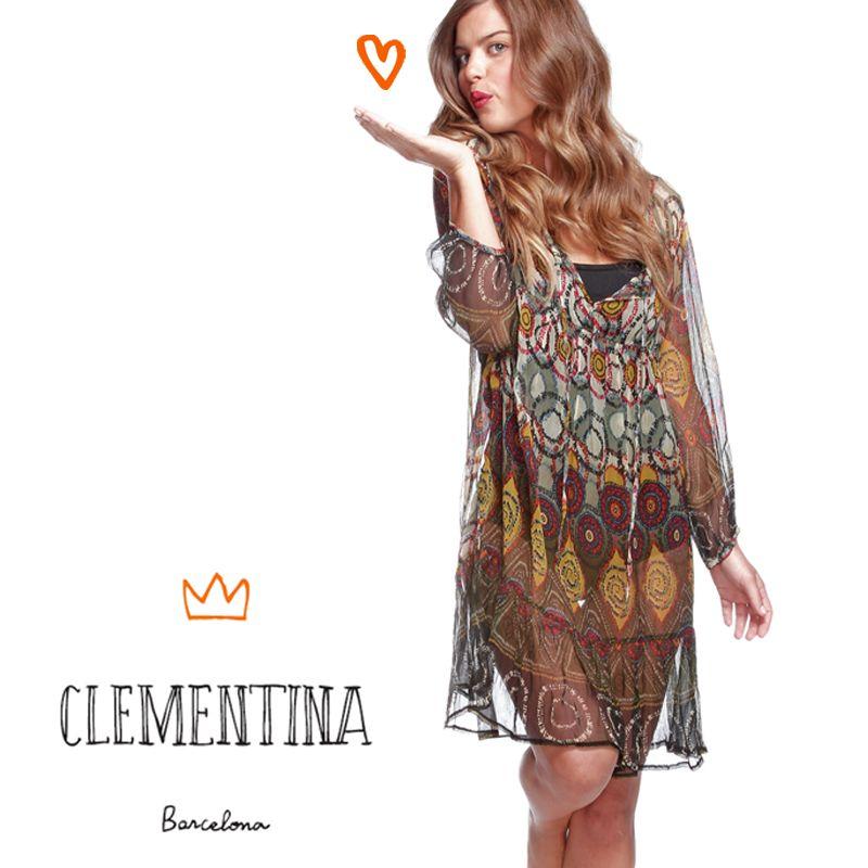 #tunica #isabela #transparencias #style #casualchic#fashion #vestido #transparente #clementinabcn www.clementina-bcn.com