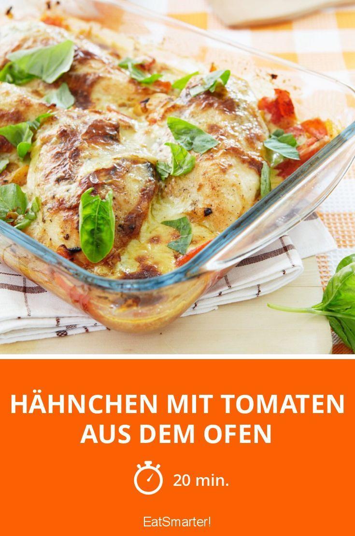 Hähnchen mit Tomaten aus dem Ofen