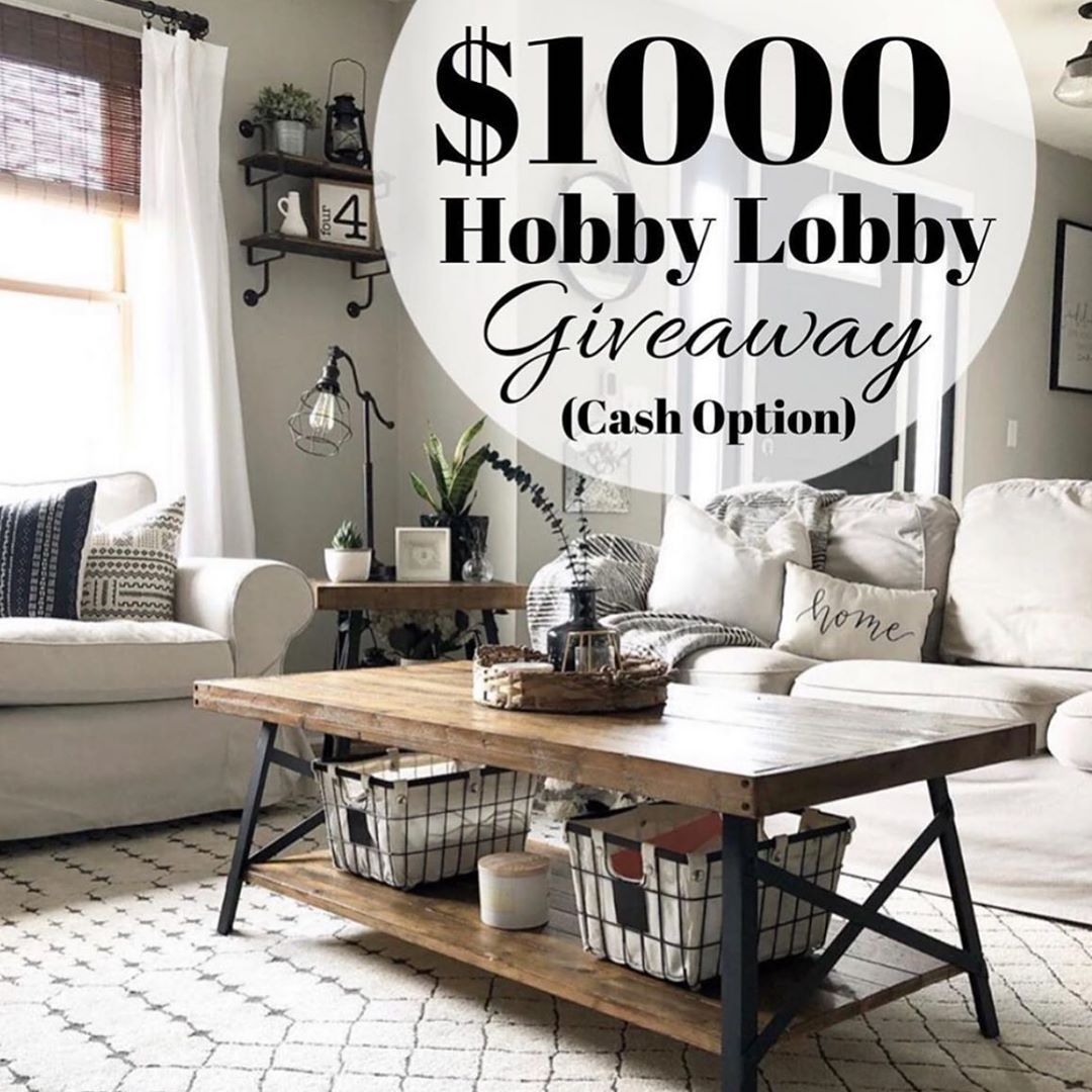 Who would pass up a $1,000 @hobbylobby shopping spree???
