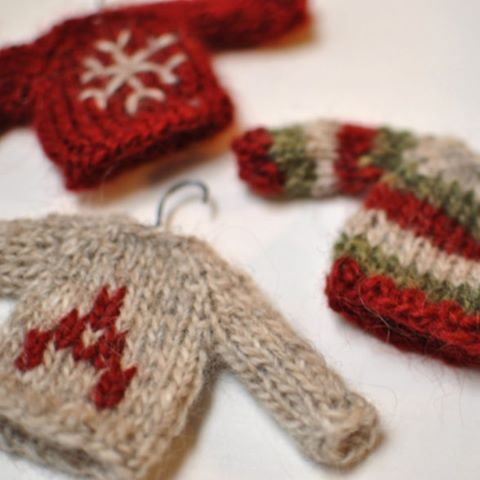 Just in time for the holidays! We just released this FREE tiny sweater pattern on Ravelry. Search for it in Malia Mather's pattern store.