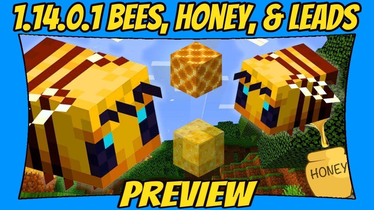 Bees, & Honey Minecraft Beta 1.14.0.1 Update