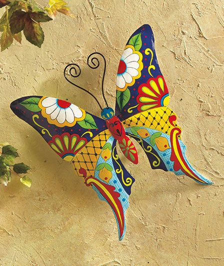 Metal Butterfly  Wall or Fence Art  Yard, Garden & Outdoor Decor #