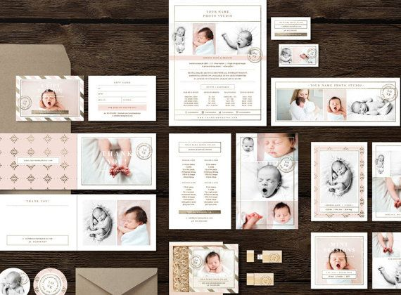 Photoshop templates for newborn portrait photographers photographer welcome packet attract your ideal clients