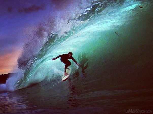 #robbiecrawford #surf #wave #barreled