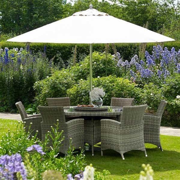 Furniture. Naunton Manor Cotswold 6 Seat Round Rattan Dining Set   Gardens