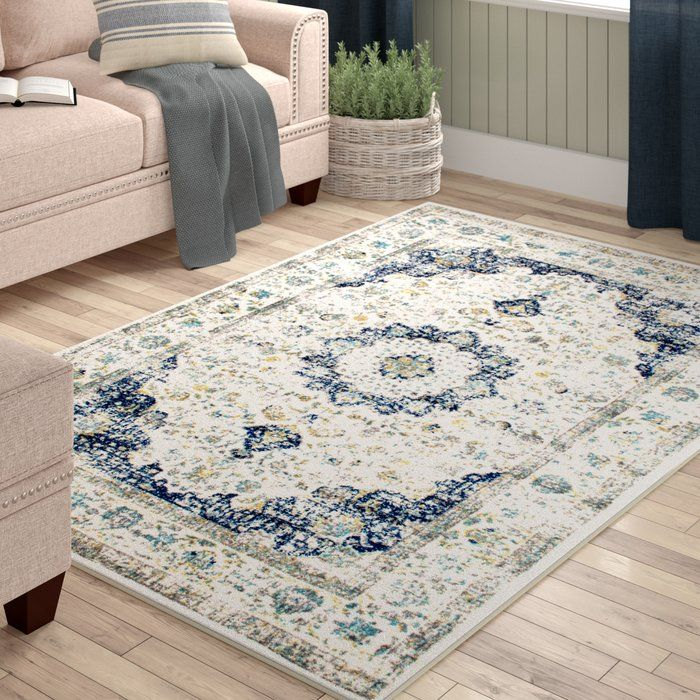 Hosking Blue Area Rug In 2019 Living Room Furniture