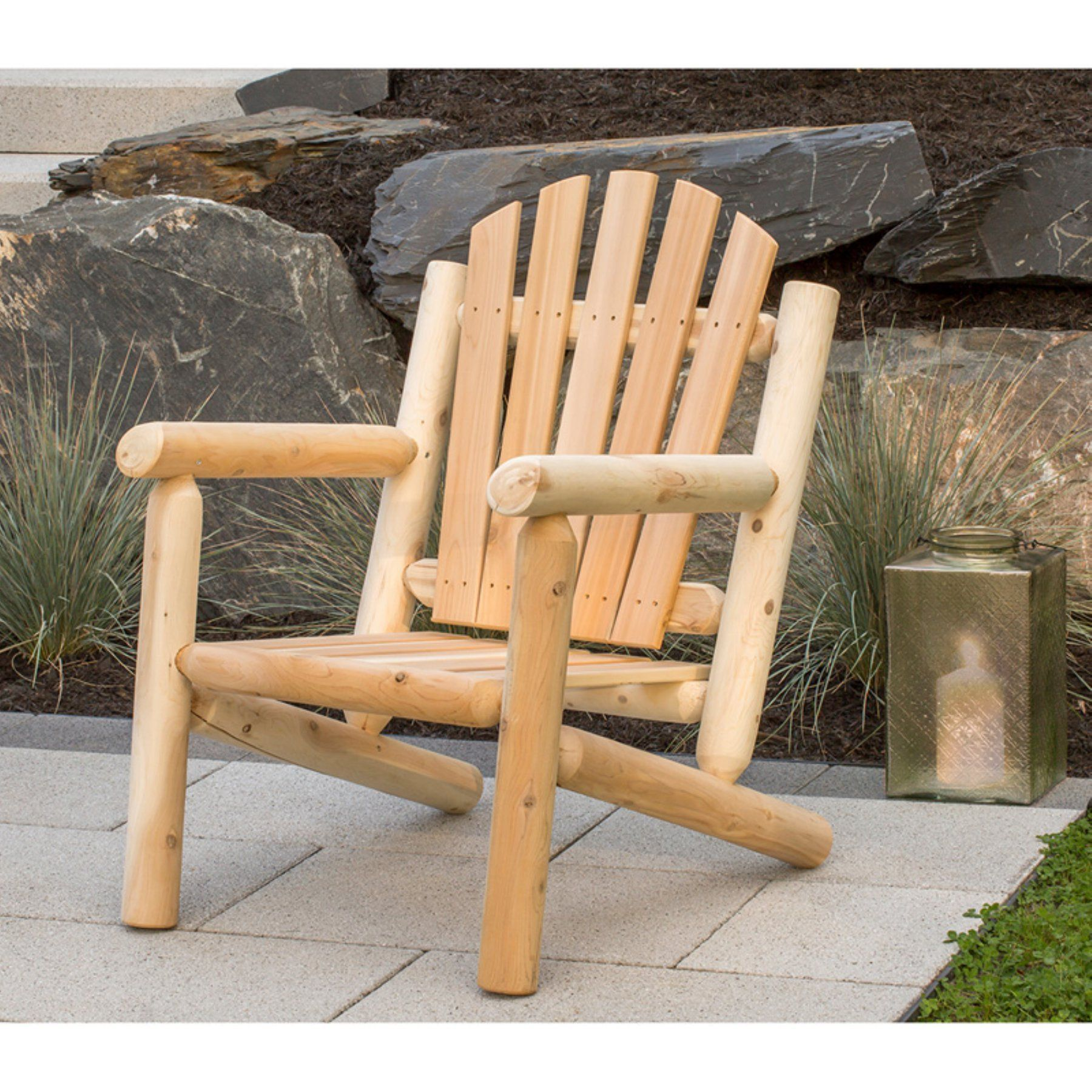 Outdoor Bestar White Cedar Patio Arm Chair MR 104L