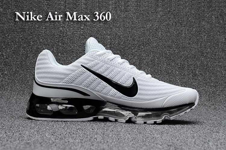 66a9a7a12efe0a Nike Air Max 360 Men White Black