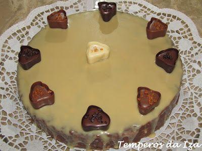 Temperos da Iza: Bolo de Salame Com Cobertura de Chocolate