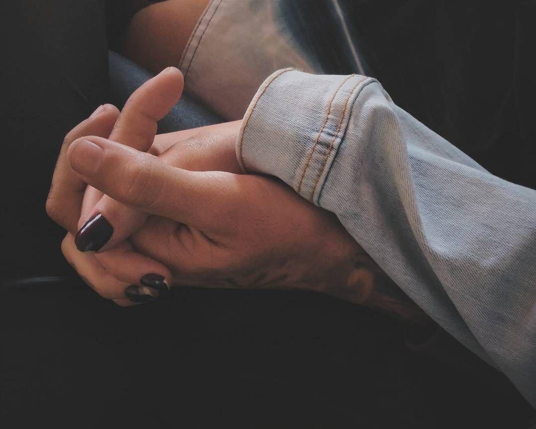 Cest La Vie Hands Fingers Intertwined Long Sleeve Denim