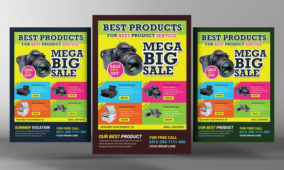 mockups04fjpg 580 348 Flyer Design Pinterest – Promotional Flyer Template