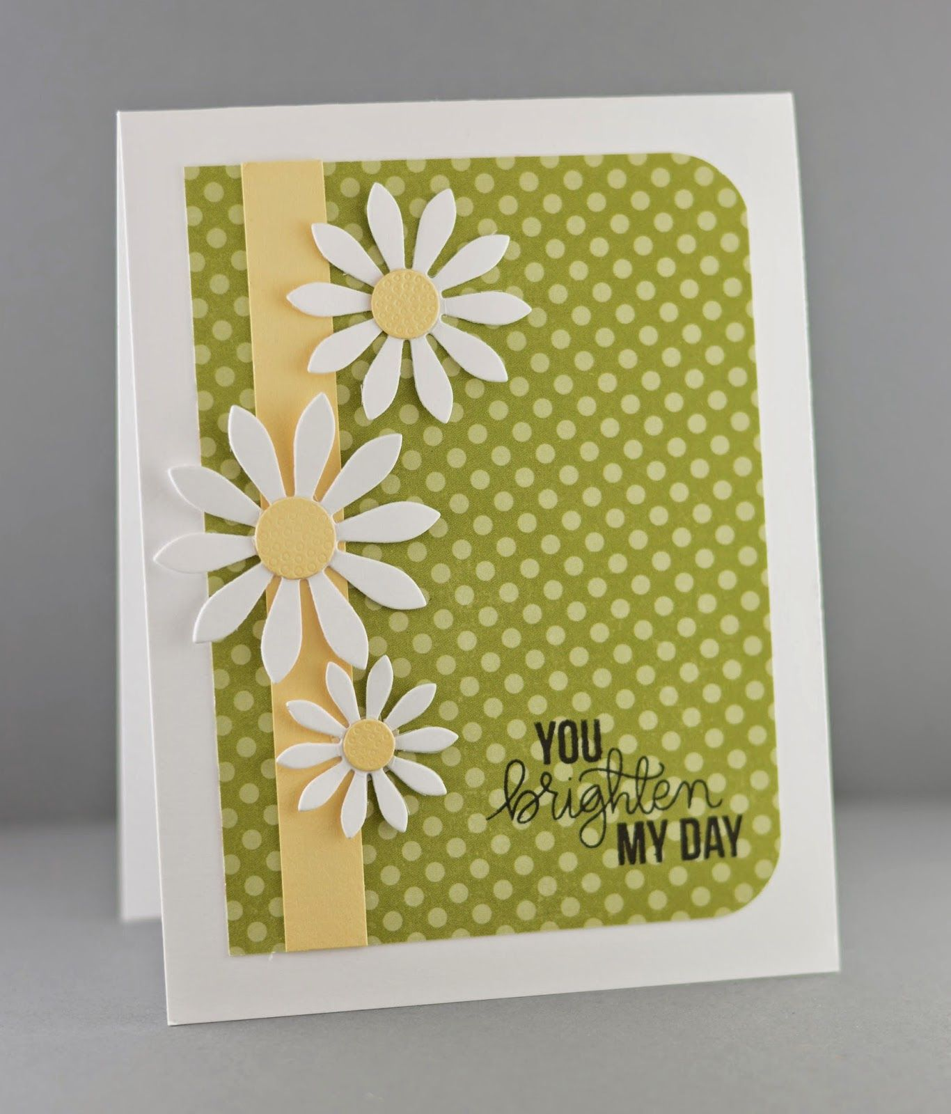 Handmade Greeting Card Cherry Look With A Trio Of Die Cut