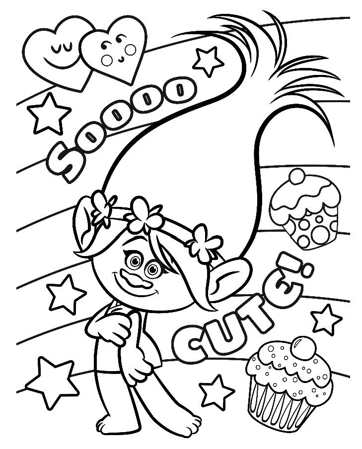 Epic Poppy Coloring Pages 43 CLIP ART GALORE Troll