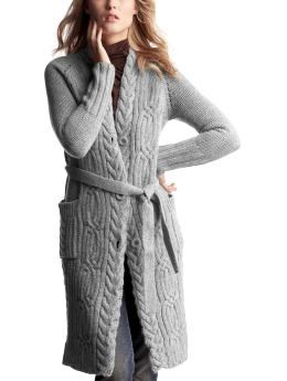 extra long cable knit cardigan sweater | Clothing I'm Going to ...