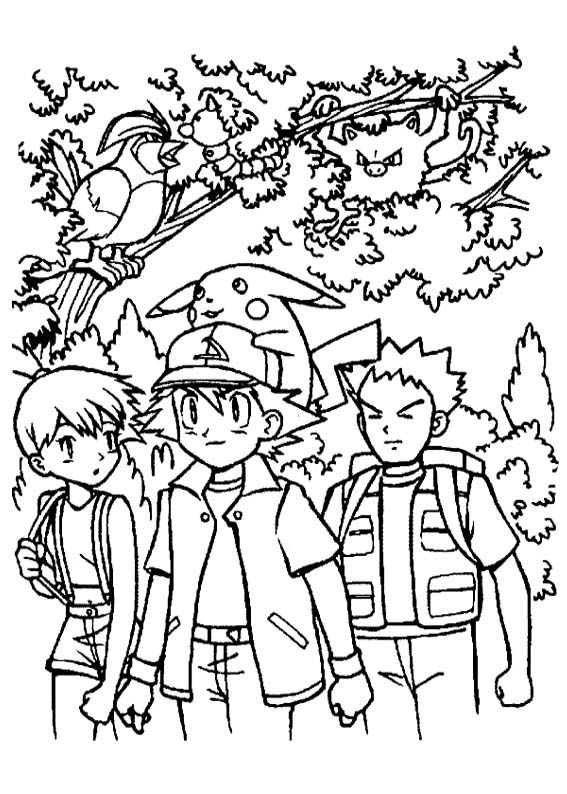 Ash Ketchum And Friends Coloring Page Coloring Book Pages