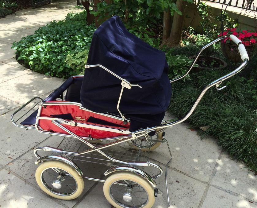Vintage 1970's Peg Perego Pram Carriage & Stroller Combo