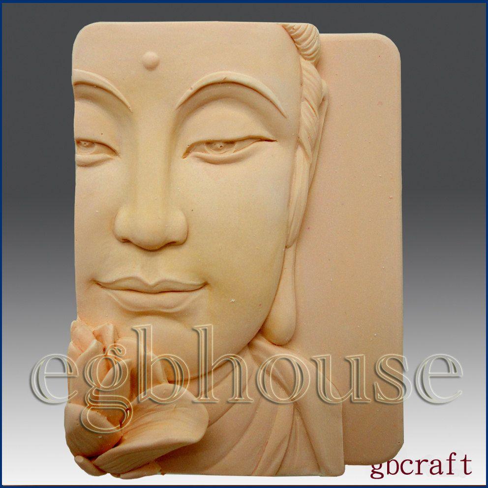 D silicone soap mold buddha closeup wlotus buy from original