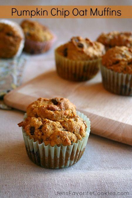 Pumpkin Chip Oat Muffins from Jen's Favorite Cookies
