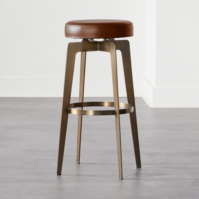 Hayden Round Bar Stool 30 Brown Round Bar Stools Bar Stools