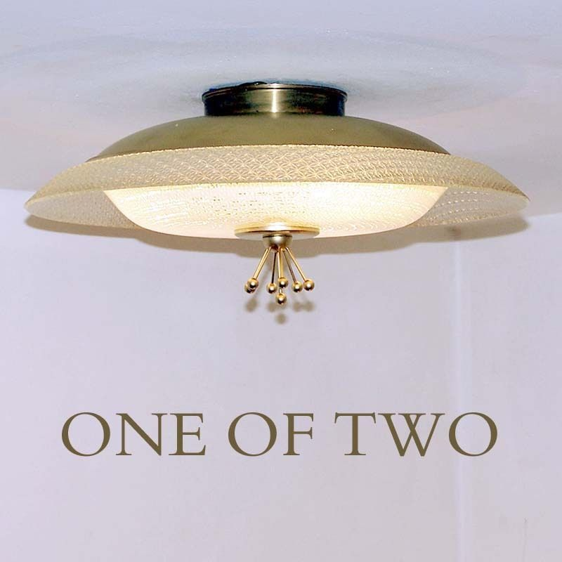 VINTAGE Atomic Ceiling Light. Made by Moe Lighting. At this listing time I had two. Might still have. C.816-721-5801 to confirm. The ceiling drop 7 inches. Width 16 inches wide.