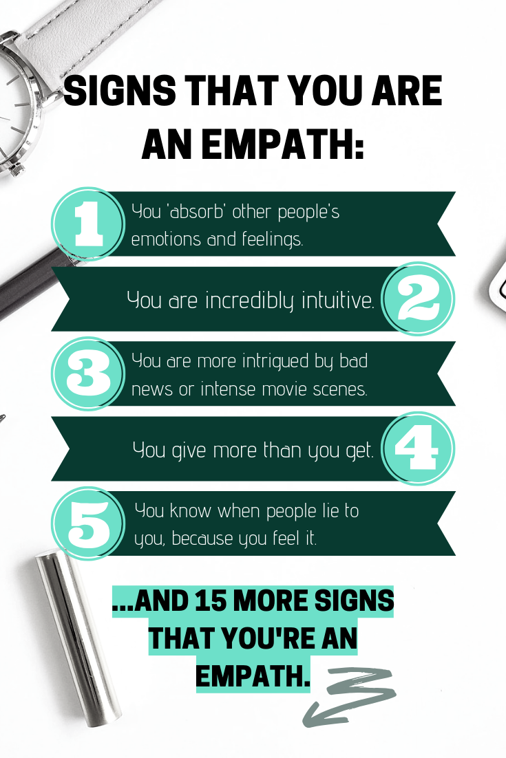 Signs that you are an empath
