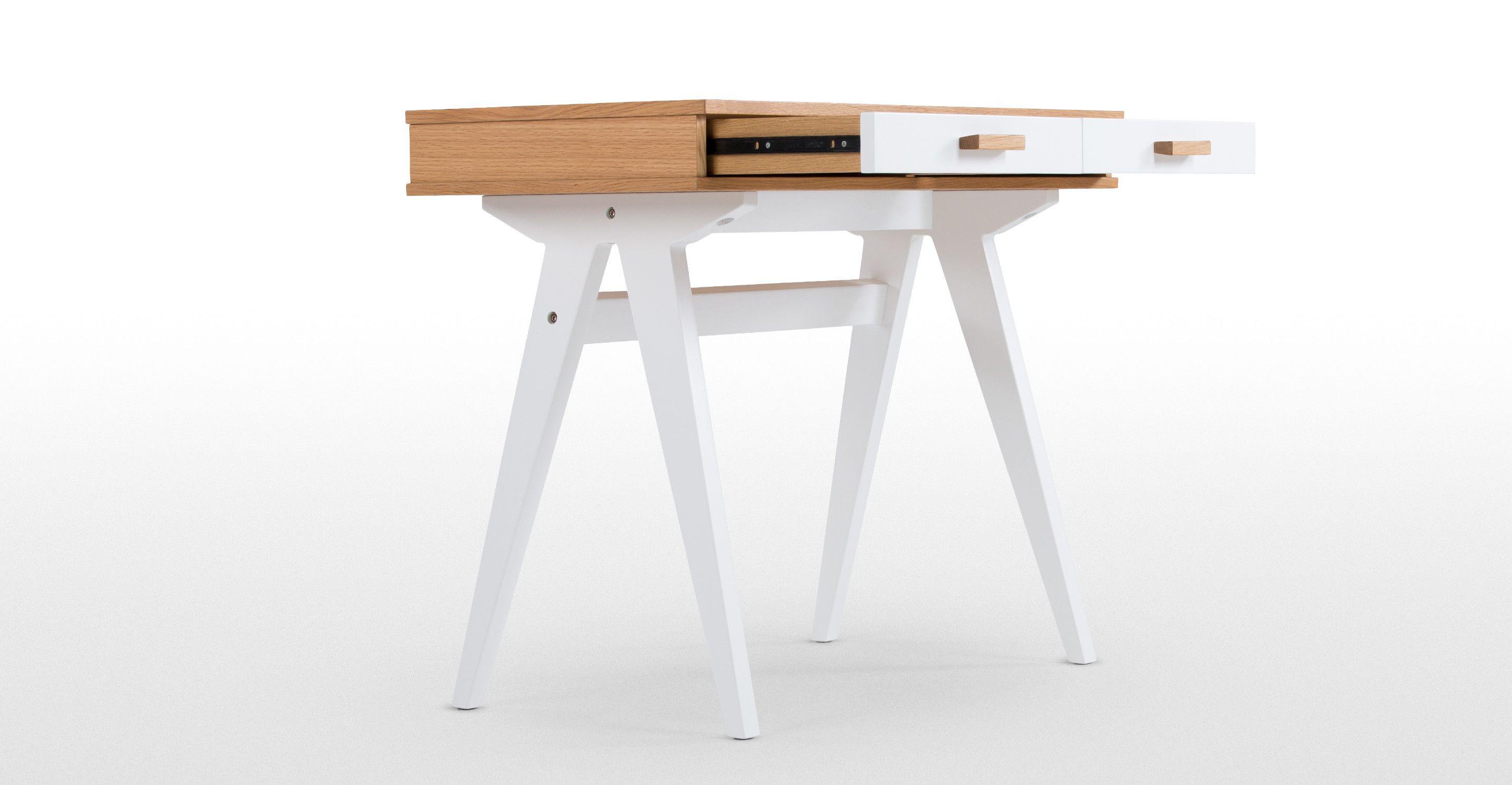 Mini Stroller Schreibtisch Für Kinder, Eiche Und Weiß | Made.com