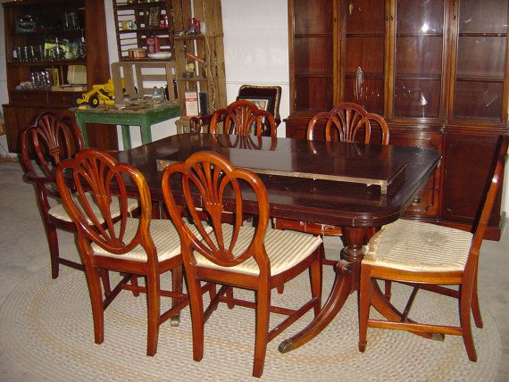 Dining Room Set China Hutch, Table U0026 Six Chairs, Drexel Furniture Company  ,epsteam On Etsy, $1,100.00