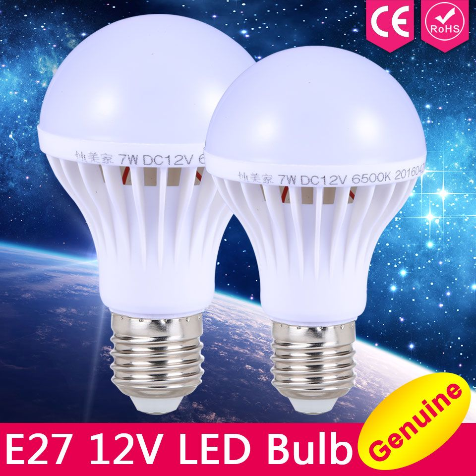 E27 Luzes Led Bulbo 3 W 5 W 7 W Dc 12 V Levou Lampada E27 9 W 12 W 15 W Lampada 12 Volts Levou Lampadas De Poupanca De Energia Pa Led Bulb Bulb Led Light Bulbs