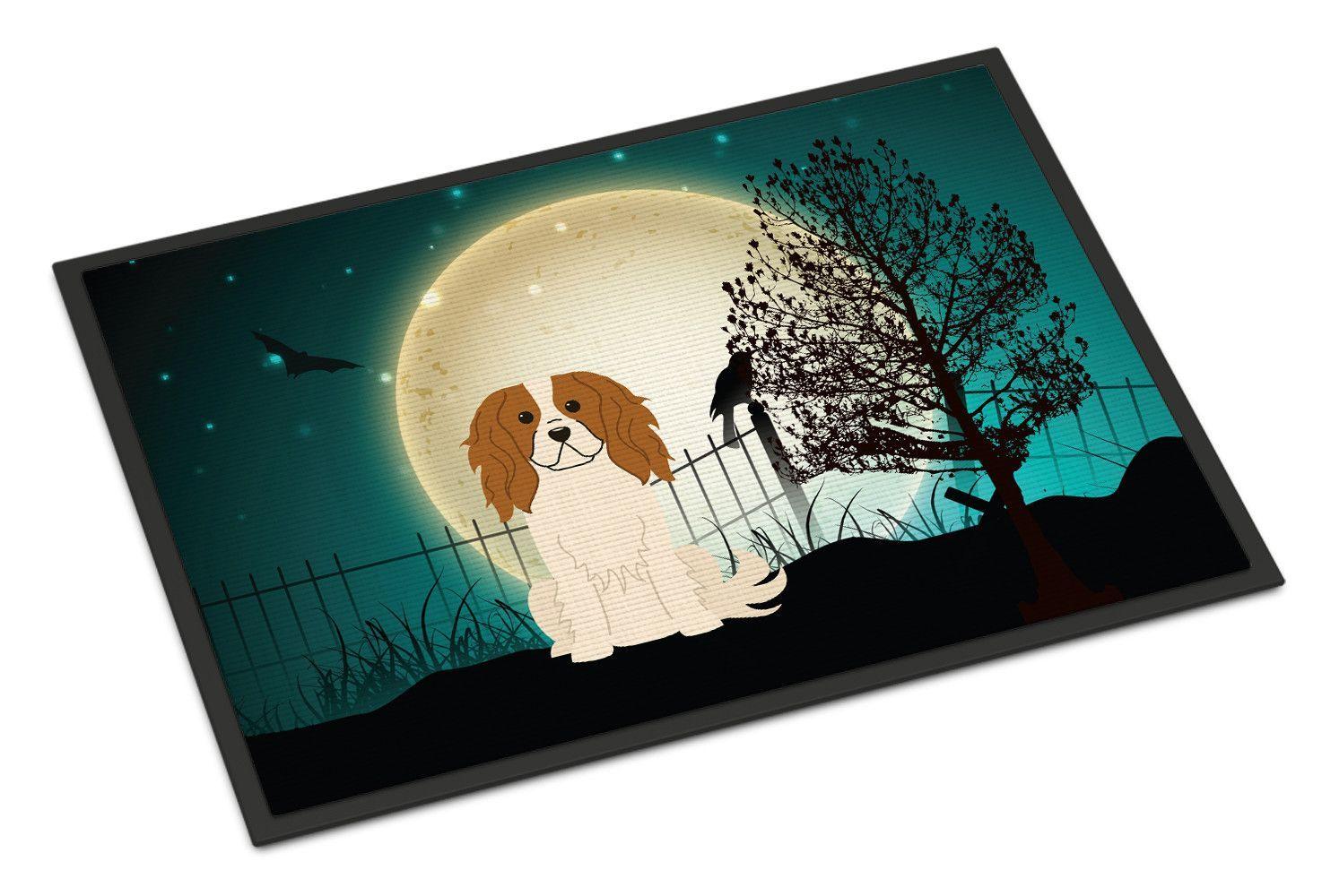 Halloween Scary Cavalier Spaniel Doormat