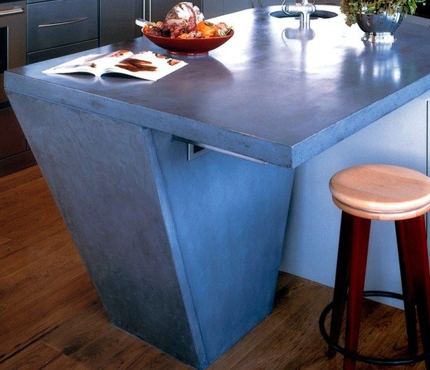 Charmant Blue, Veined Concrete Countertops Buddy Rhodes Concrete Products San  Francisco, CA