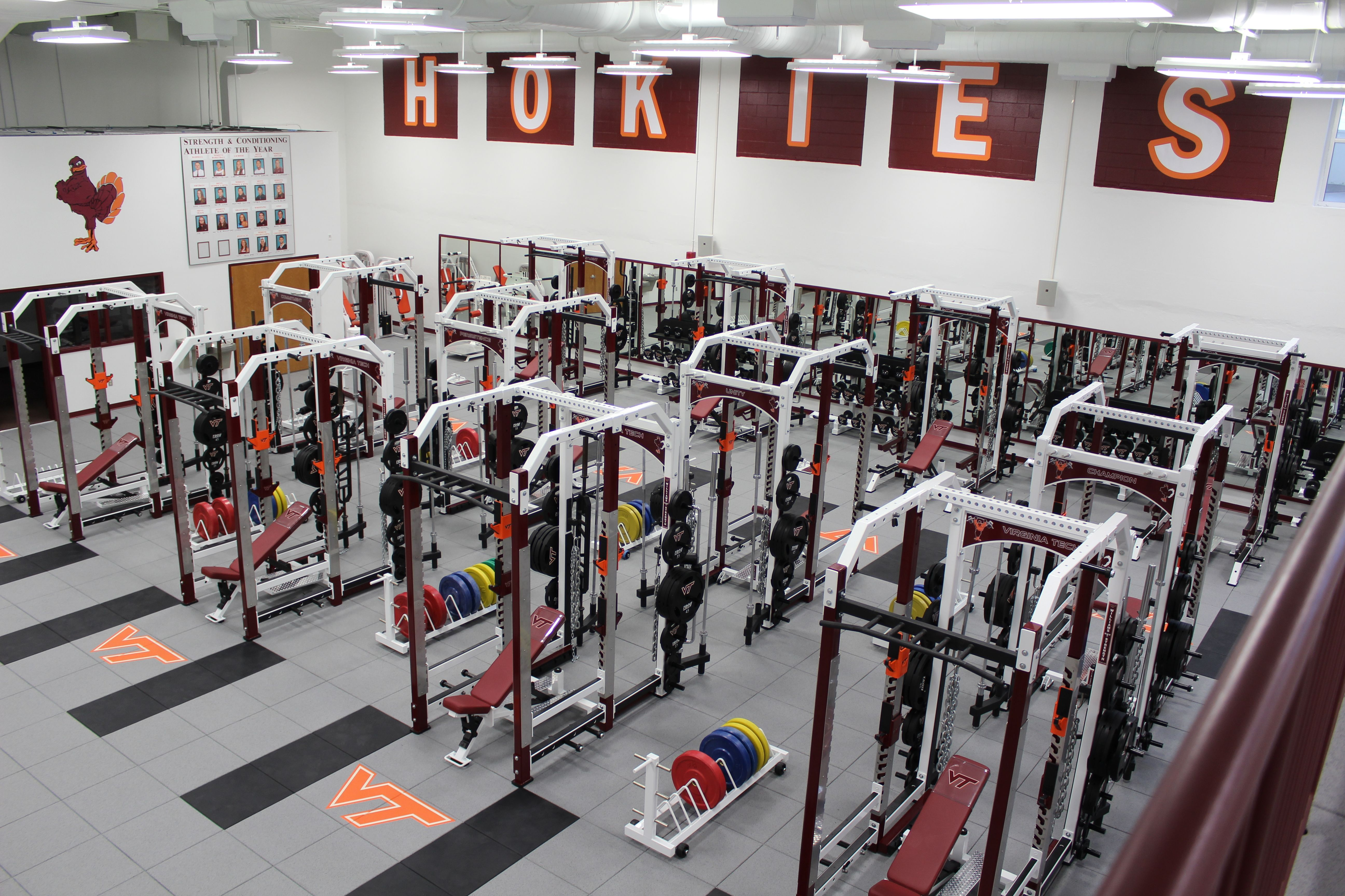 Virginia Tech Olympic Weight Room Installation