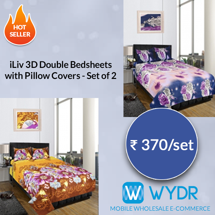 Retailers, Source 3D Bedsheets From #Wydr Wholesale E Commerce App. Buy High