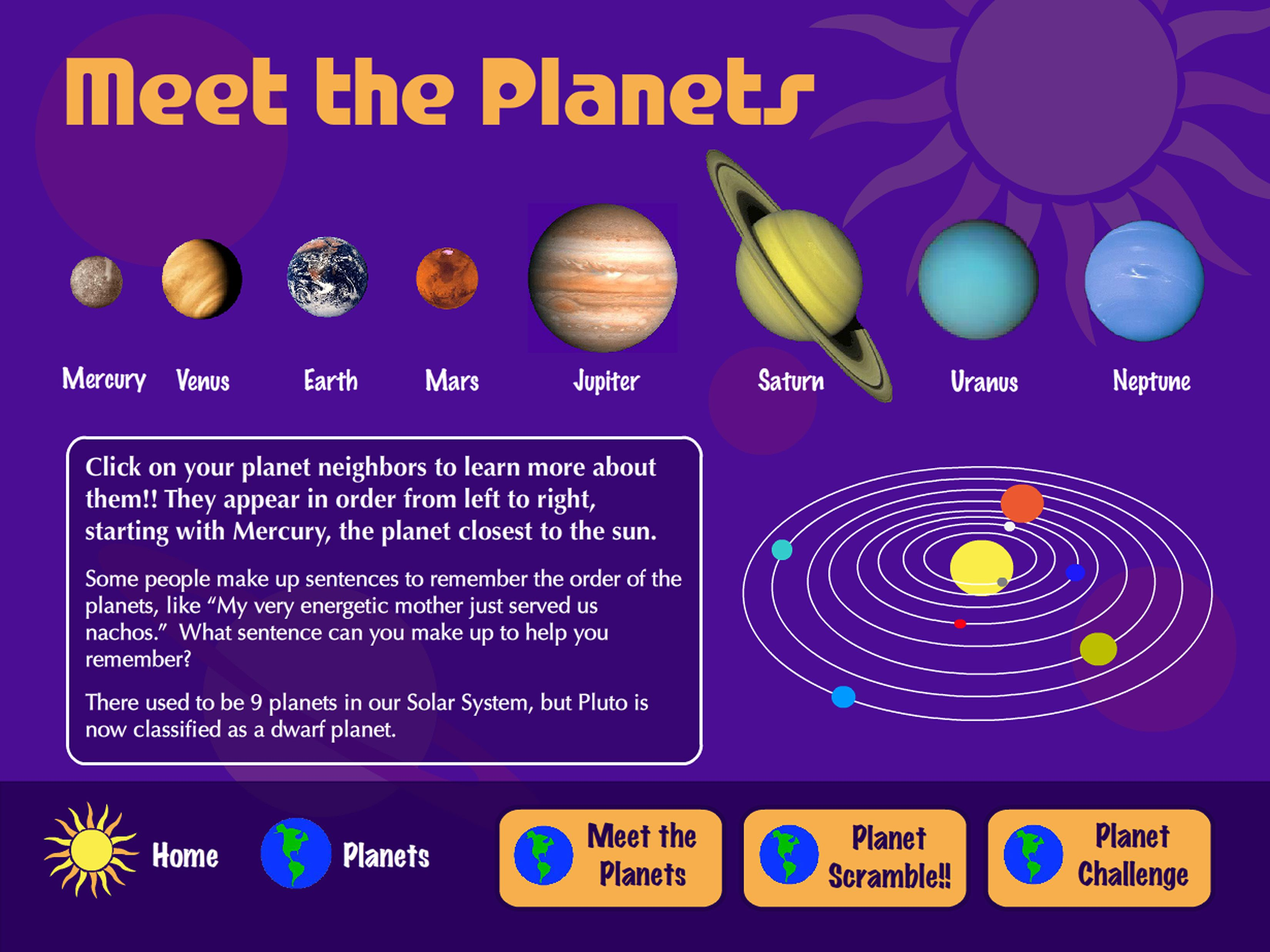 T Michels Design » Our Solar System For Kids - Flash ...