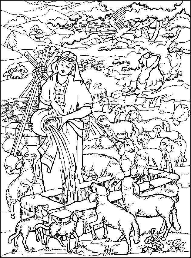 Rachel Bij De Dieren Bijbelse Kleurplaten Pinterest