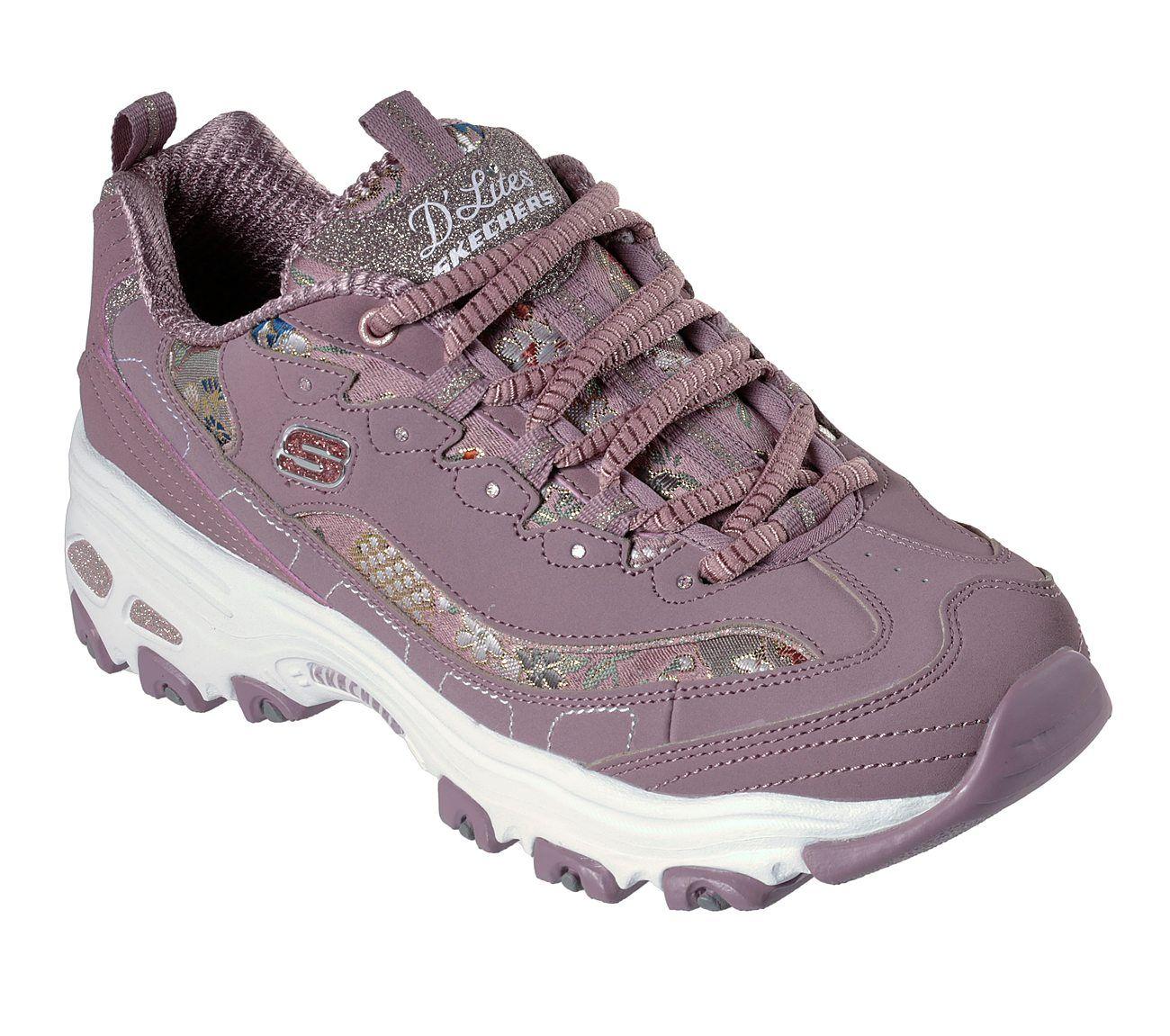 Cumbre Hostal de acuerdo a  Buy SKECHERS D'Lites - Floral Days Skechers D'Lites Shoes only £65.00    Womens sneakers, Sneakers fashion, Leather shoes woman
