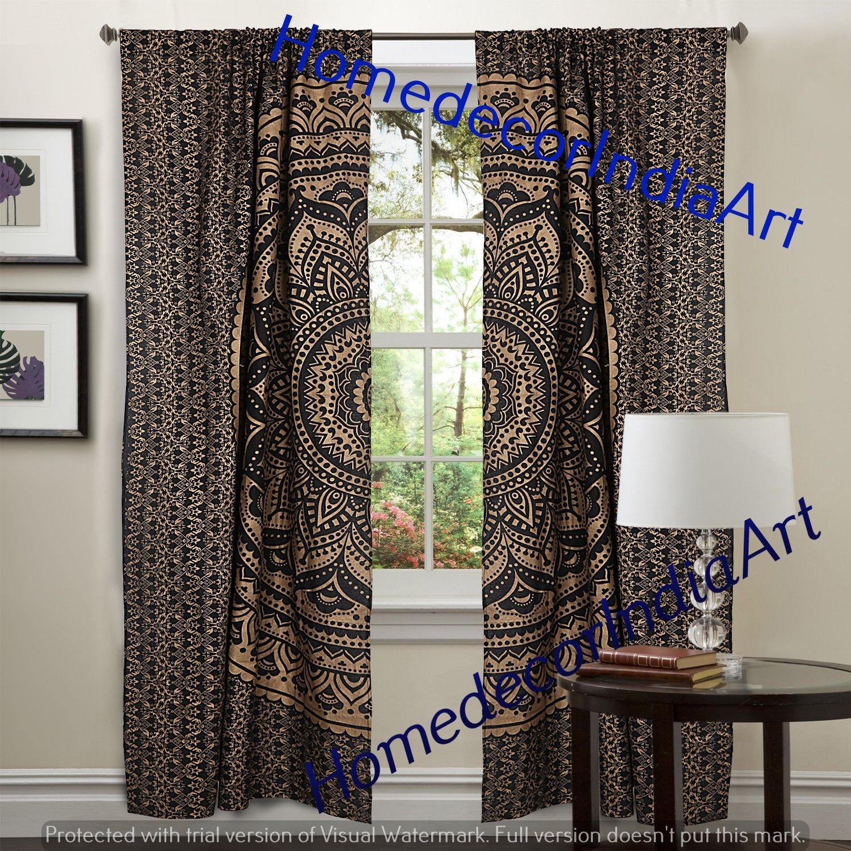 Indian Mandala Cotton Hippie Tapestry Door Curtain Decor Window Wall Curtain Mandala Kitchen Window Cur In 2020 Tapestry Curtains Kitchen Window Curtains Curtain Decor