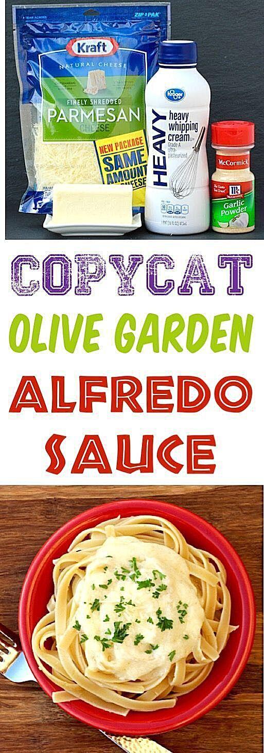 Olive Garden Alfredo Sauce Recipe Easy Copycat Recipes!  You won't believe