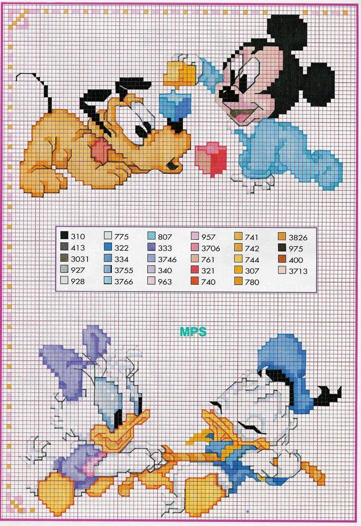 Mickey and Friends Disney Babies 2/11 | wzory | Pinterest | Punto de ...