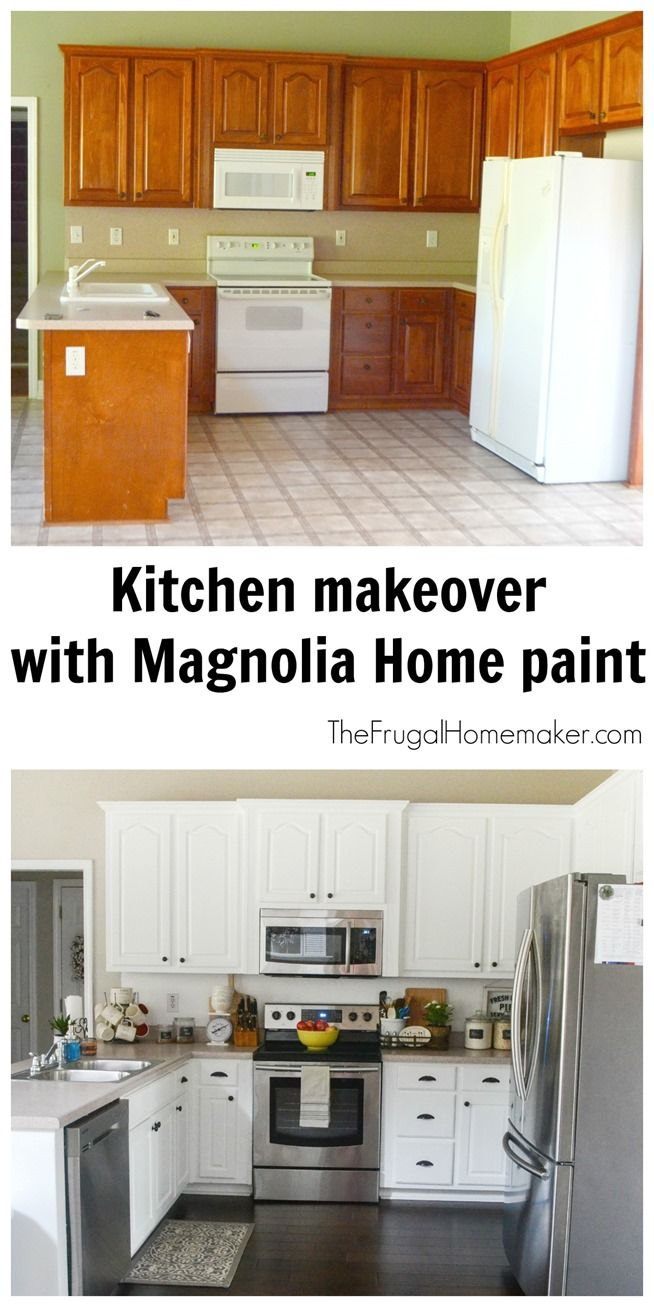 Kitchen makeover with Magnolia Home paint | Frugal Homemaker ...