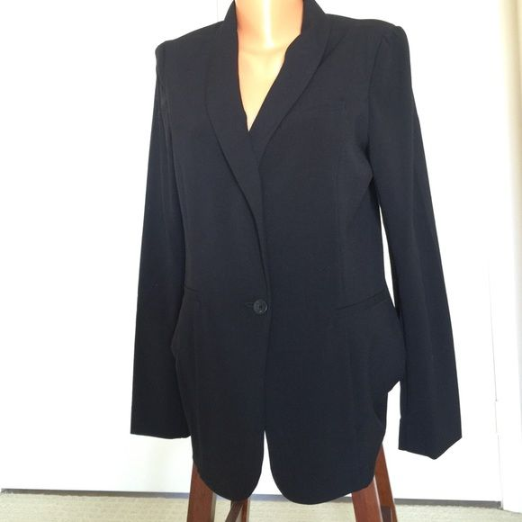 Guess jacket Black Guess Jacket, one button, no lining. Guess Jackets & Coats