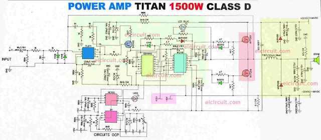 Power Amplifier 1500w Class D Ir2110 Cd4049 Power Amplifiers Class D Amplifier Amplifier