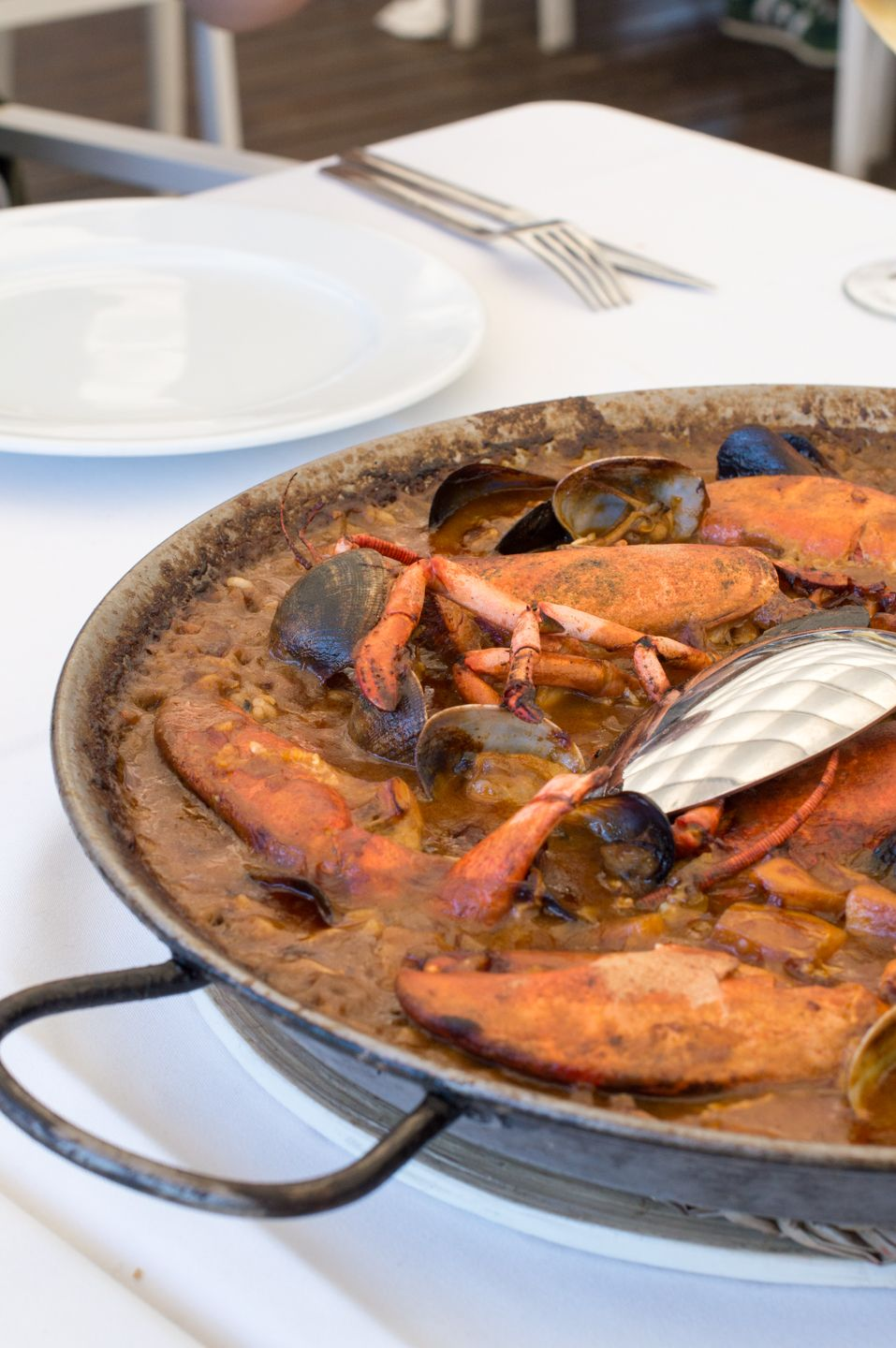 Paella By The Sea At Banys Lluis Sant Pol De Mar Appetite And Other Stories Seafood Restaurant Food Paella