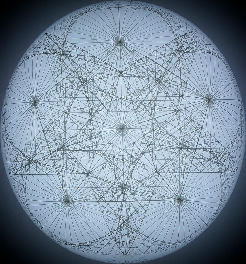 3d Quantum Star Drawing by Jason Padgett - 3d Quantum Star Fine ...