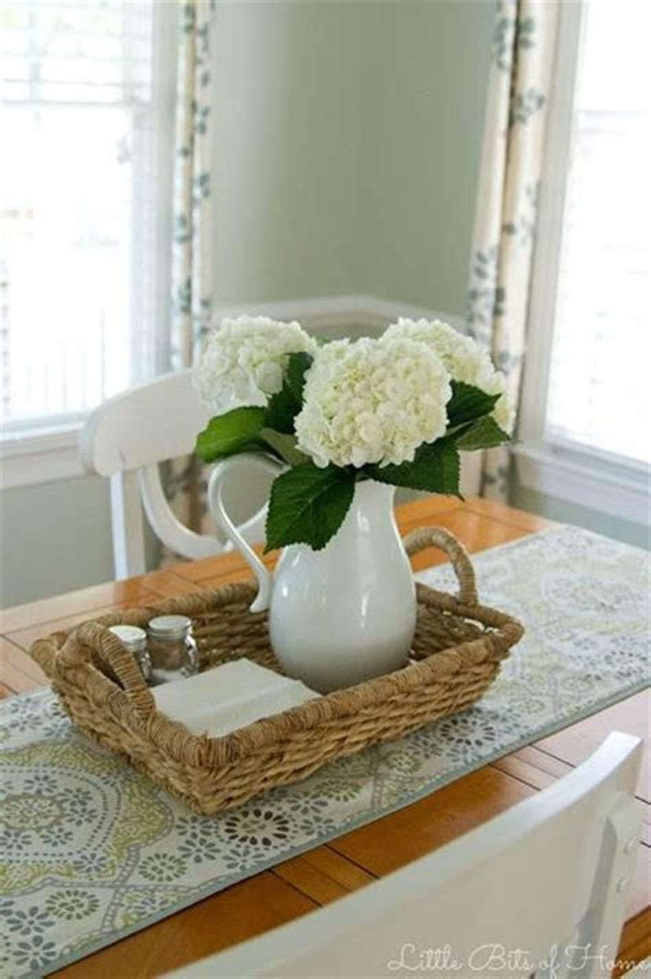48 Best And Beautiful Farmhouse Table Centerpiece Ideas Craft Home Ideas Table Centerpieces For Home Dining Table Centerpiece Dining Room Table Centerpieces