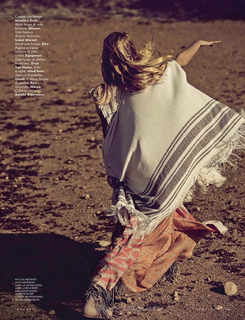 Freedom Vanity Fair Italia 15 April 2015 Photographer: Sergi Pons Stylist: Elisabetta Dal Bello Hair & Makeup: Astor Hoxha Model: Denisa Dvorakova