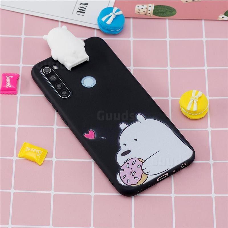 Big White Bear Soft 3d Climbing Doll Stand Soft Case For Mi Xiaomi Redmi Note 8 Xiaomi Redmi Note Case Xiaomi Iphone Phone Cases