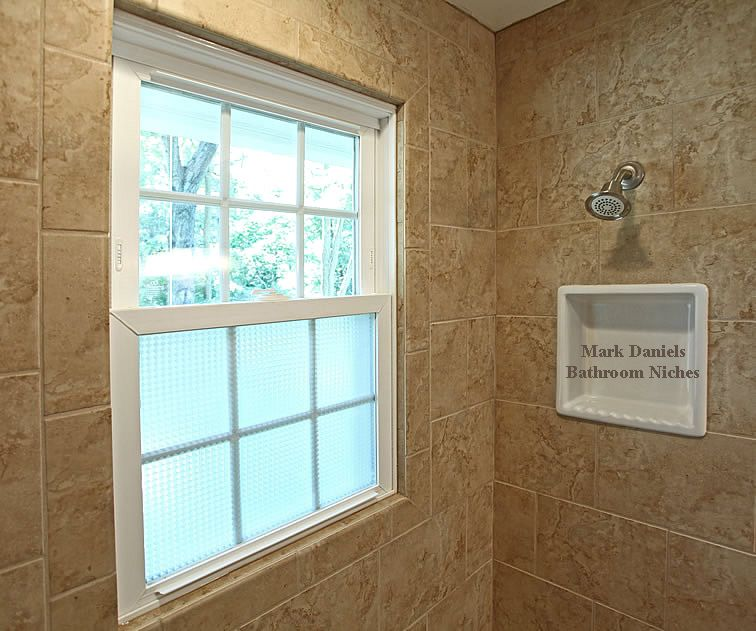 Window Picture Framed Bull Nose Tile With Pitch On Very Small Shelf Shampoo Holder Centered On Shower H Window In Shower Bathtub Remodel Bathroom Tub Remodel